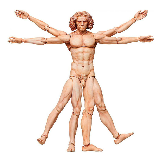 Figura de acción de El Hombre de Vitruvio