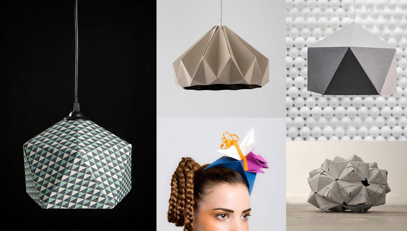 Creation of Origami Lamps with Paper