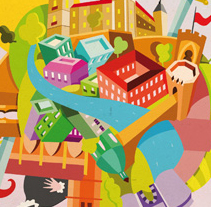 Vodafone ciudades. A Illustration, and Advertising project by Óscar Lloréns - 23-07-2009