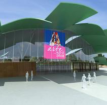 Infografía centro multiusos en Puente Genil. Un proyecto de 3D de Marcos Padilla del Valle - 04-05-2010