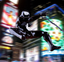 Black Spiderman. A Design, Illustration, Advertising, and Photograph project by luis C García         - 06.05.2010