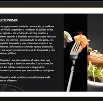 Singularis Catering Website. A Design, and Software Development project by Adrian Gonzalez         - 18.06.2010