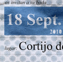 Invitación de Boda. A Design project by Jorge de Guzmán - 22-11-2010
