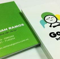 Tarjetas de Presentación de Gooru Interactiva. Um projeto de Design de Adrian Ramos         - 31.01.2011
