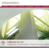 Web Ascensores Rubori. Un proyecto de Diseño de vanessa oliver pérez         - 13.04.2011