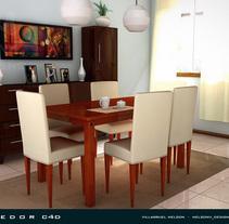 Comedor c4d. A Design, and 3D project by Nelson Villarruel - 17-06-2011