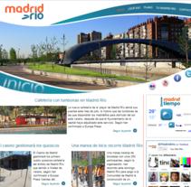 Sitio web Madrid Río. Um projeto de Design, Ilustração, Publicidade, Desenvolvimento de software, Fotografia e Informática de Álvaro Millán Sánchez         - 15.07.2011