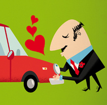 I LOVE MY CAR. A Design, Illustration, and Advertising project by Lore Vigil-Escalera aka (LOV-E)         - 12.08.2011