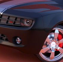 CHEVROLET CAMARO 3D. A Design, 3D, UI / UX, and Advertising project by Jose Luis  Rioja - 09.01.2011