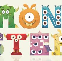 Monster alphabet. Un proyecto de Ilustración de Anna  Pujadas Baqué - 23-09-2011