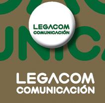 Logotipo Legacom Comunicación. A Design project by Inma Lázaro         - 24.10.2011