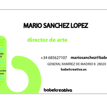 Tarjetas babel creativa. A Design project by Gupo         - 17.01.2012