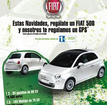 Poster Fiat 500 Tecnocasa. Um projeto de Design de Sergio Sala Garcia         - 26.01.2012
