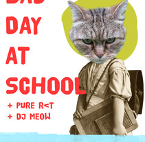 bad day at school poster. A Design, Illustration, and Advertising project by Virginia Peláez         - 12.02.2012