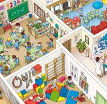 SM Murales didácticos para primaria. A Illustration project by Alya Markova - 06.20.2013