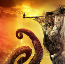The Fisherman of Giant Octopus. A Illustration project by Rolan Gonzalez         - 15.06.2012