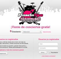 Conciertos Tipo. A Design, and UI / UX project by Ovidio Rey Edreira - 29-09-2012
