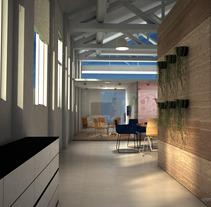 Espacio Co-Working - Ca L'Estruch. Um projeto de Instalações e 3D de Elena Luque Pérez         - 22.06.2012