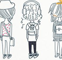 Back to School T-shirts. Um projeto de Ilustração e UI / UX de Carolina Massumoto         - 17.07.2012