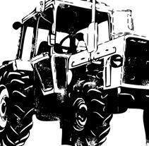 GRANDE TRACTOR | logo + camiseta. Un proyecto de Diseño, Ilustración y Publicidad de alejandro escrich - 19-07-2012