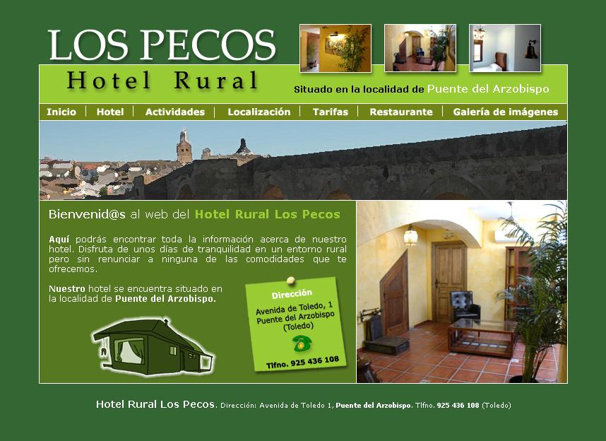 Website hotel rural los pecos domestika for Hotel rural diseno