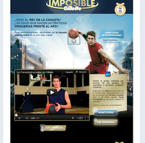 Canasta Imposible de Gillette. A Advertising, and Software Development project by Javier Fernández Molina - 15-08-2012