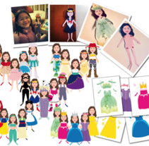 PaperDolls. A Illustration project by Irene Martos Gomez         - 29.08.2012