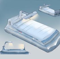 Cama del futuro. A Design&Illustration project by Daniella Bastidas Toro         - 04.10.2012
