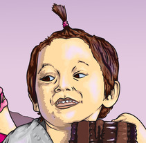 Adora just discovered a sea of Nutella. A Design&Illustration project by Albertinto  - 06-10-2012