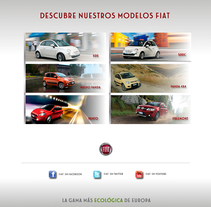 Gama Fiat España Facebook Page. A Design, and Advertising project by Jessica Alexandra Bustamante Fonseca - 11-10-2012