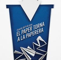 Reciclaje paper URV. Um projeto de Design, Publicidade e Fotografia de Tomás Castro         - 20.11.2012
