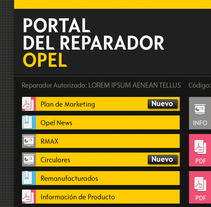 Portal postventa. A Design, Advertising, Software Development, and UI / UX project by Rubén Santiago - 30-11-2012