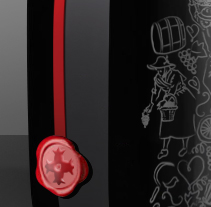 BOTELLA DE VINO ABADIA. A Design&Illustration project by Carlos Salvado         - 18.01.2013