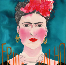 Frida Kahlo. A Design, Illustration, and Advertising project by Laia Jou         - 29.01.2013