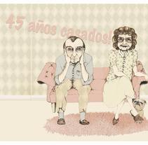 46 años casados!. Um projeto de Ilustração de Cecilia Sánchez         - 13.02.2013
