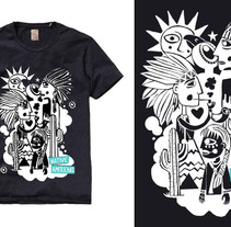 native american t-shirt. A Design&Illustration project by Denise Turu         - 25.02.2013