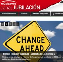 Mapfre Canal Jubilación. A Design, UI / UX&IT project by Mariana  Bolívar         - 02.03.2013