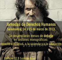 Campañas Amnistía Internacional Salamanca. Un proyecto de Diseño y Publicidad de Tere G         - 10.03.2013