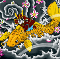 Koi Samurai. A Illustration project by Juan Arias Benito - 18-03-2013