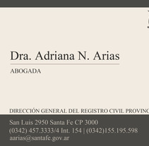 Adriana Arias. A Design, and Advertising project by María Sol Portillo Arias         - 04.04.2013
