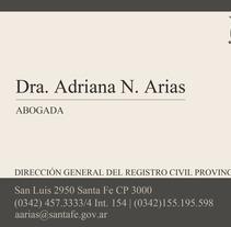 Adriana Arias. Um projeto de Design e Publicidade de María Sol Portillo Arias - 04-04-2013