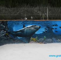 Mural marino en piscina. A Illustration&Installations project by Graffiti Media         - 28.04.2013