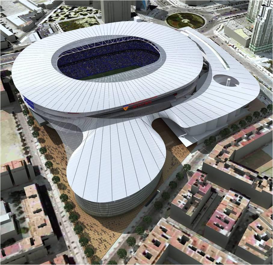 Estadio valencia cf domestika - Listado arquitectos madrid ...