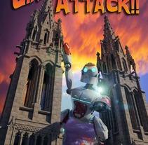Giant robot Attack. Um projeto de Ilustração e 3D de Francisco Huezo García         - 09.05.2013
