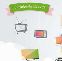Infografia Evolucion TV. Un proyecto de Diseño, Ilustración y Motion Graphics de Rosario Margaita Di Giuseppe Versluys         - 28.05.2013