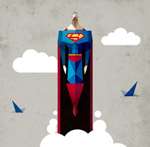 Superman. A Illustration project by Ricardo Polo López - 28-05-2013