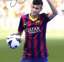 Póster NeymarFCB. A Design, Illustration, and Photograph project by Eloy Pardo Rouco         - 04.06.2013