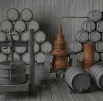 Objetos low poly de bodegas de vino en 3D. Un proyecto de Diseño, Instalaciones y 3D de Nomadic Blink         - 01.12.2013