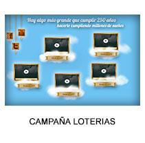 CAMPAÑA 250 AÑOS LOTERIAS. A Design, Advertising, Motion Graphics, Software Development&IT project by ainhoa sainzdiaz         - 19.11.2013