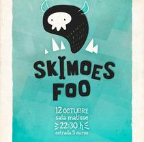Cartel Concierto Skimoes. A Design&Illustration project by Érika G. Eguía         - 07.10.2013